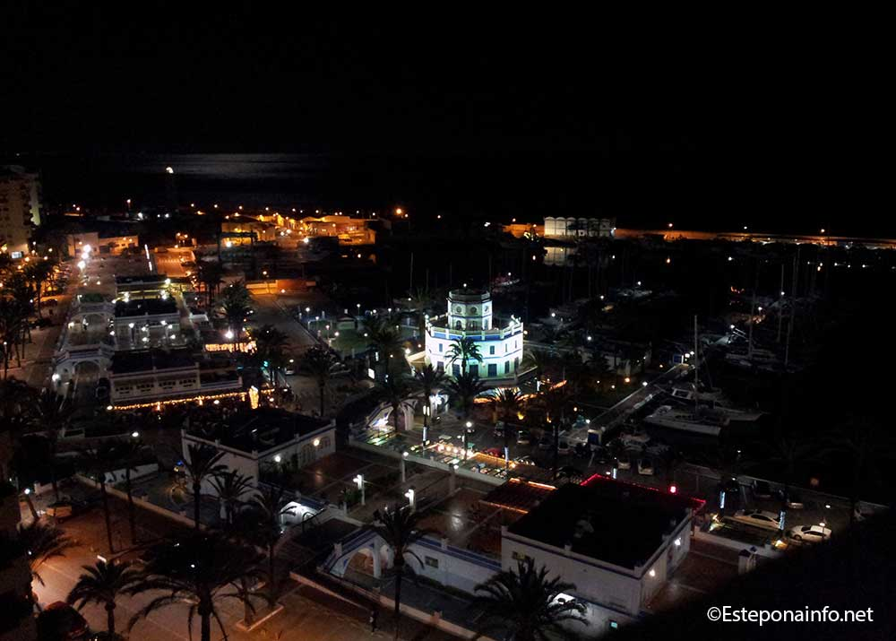 The Estepona Marina by night